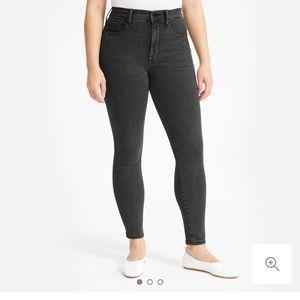 Everlane highwasted skinny jeans. Grey wash